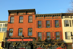 Fells Point ~ Thames St pubs (karma (Karen)) Tags: baltimore maryland fellspoint thamesst pubs historicbuildings windows wreaths lampposts nrhp topf25