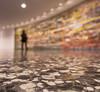 Pickett's Challenge (johngoucher) Tags: approved pickettschallenge artwork installation museum markbradford art gallery hirshhorn painting clyclorama gettysburg battleofgettysburg terrazzofloor terrazzo focus areaoffocus rokinon wideangle wideanglelens washingtondc washington dc
