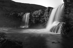 Skutafoss in Iceland (Nick L) Tags: skutafoss iceland southerniceland southeasticeland waterfall blackandwhite bw monochrome longexposure harsh landscape
