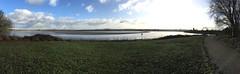 Two Bridges (s1ng0) Tags: river mersey bridge bridges merseygateway silverjubilee spikeisland widnes iphone panoramic