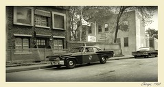 Police Department (gpholtz) Tags: diorama miniatures 118 diecast chevrolet biscayne 1966