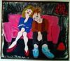 couple sur le canapé rose (ivannave) Tags: débat courants forces féminin pouvoir découvertes féminines jour rose canapé couplw iracema bijoux femmes dessine ouvres peinture tableau ivannave