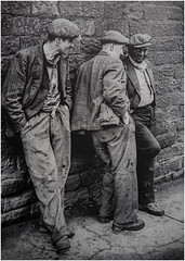 Heworth Colliery, Gateshead miners after the shift (Pitheadgear) Tags: northeast england britain mines miners mining pit pits pitmen coal colliery collieries coalmining blackandwhite mono monochrome heworthcolliery heworth gateshead