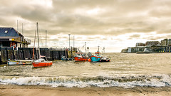 Viking Bay, Broadstairs with boats (philbarnes4) Tags: yellow broadstairs vikingbay thanet kent england philbarnes dslr nikond5500 bay