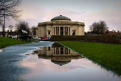 Lady Lever Art Gallery, Port Sunlight (nickcoates74) Tags: ladylever artgallery sony a6300 ilce6300 sigma 30mmf28dn 30mm reflection puddle portsunlight wirral affinityphoto