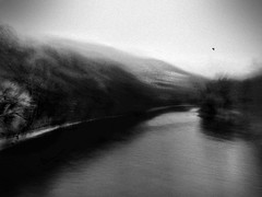 Where waters flow (rorofot) Tags: winter switzerland longexposure bluristic blackandwhite monochrom iphoneography iphone outofthephone lomob stackables landscape
