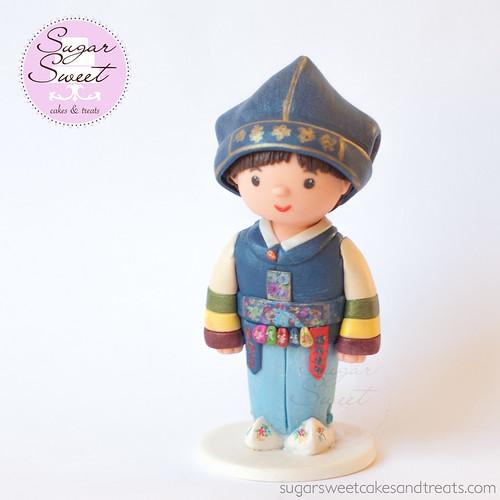 Korean Doljanchi Cake Topper Figurine