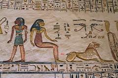 KV 9, Grab von Ramses V und VI / Tomb of Ramses V und VI (Mutnedjmet) Tags: egypt ägypten luxor grab tomb kv9 valleyofthekings talderkönige pharao 20dynastie ramsesv ramsesvi tier malerei relief hieroglyphen