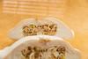 Cross-section turban squash. (annick vanderschelden) Tags: turbansquash crosssection half seeds turksturban frenchturban giraumon wintersquash food vegetable belgium