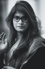 Bengali Girl (Photo Stories by Swaniket Chowdhury) Tags: nikon photography portrait 85mm 18g d3300 black white bw moody adobe lightroom cc crop sensor apsc swaniket chowdhury