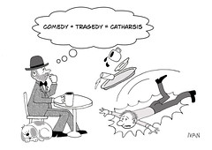 Clumsy + Awkward = Klutz (Ivan Kaminoff) Tags: intelluctualize drama comedy tragedy catharsis cartoon cafe intellectual