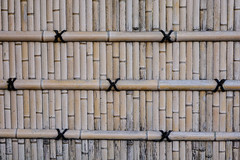 Bamboo fence at an ancient temple (phuong.sg@gmail.com) Tags: abstract architecture asia asian background bamboo bark bind bough branch brown bunch bundle closeup culture decor design detail fence jungle line natural nature organic oriental pattern pipes place plant round stick texture textured together traditional tree tropical twig wall wallpaper wood yellow