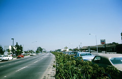 Palo Alto El Camino Real (August 1973) (menloparkplanning) Tags: paloalto elcaminoreal santaclaracounty california road street 1973 august1973