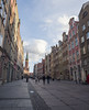 Street view in Gdansk (Simon Hubbert) Tags: gdansk poland travel lumix g80 g85 panasonic 2017 photography photo photoshop edit street path building architecture tower church sky clouds people life daily centre city road