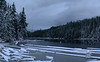 Half Frozen World (Kristian Francke) Tags: lake outdoors nature natural bc canada landscape water ice snow winter forest woods wilderness