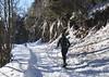 ma soeur et Nasco (bulbocode909) Tags: valais suisse fully branson jeurbrûlée montagnes nature hiver forêts arbres neige gens chiens chemins raquettes bleu vert