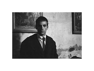 Portrait of a man in church