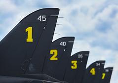 Hawk Tails (Erkka Hindberg) Tags: midnighthawks baehawk mk51 jettrainer tail numbers turkuairshow2011 eftu finnishairforce finland