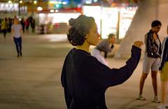 Winter Dance 2 (Robert Borden) Tags: woman dancer dance calarts disneyhall night street urban city winterdance 50mm canon canonphotos los angeles la socal california west usa californiainstituteofthearts sharondisneylundschoolofdance calartsdance