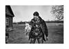 Seasons greetings (Jan Dobrovsky) Tags: chicken portrait biogon21mm leica ukraine monochrome blackandwhite people outdoor leicam10 volyn counrylife village countrylife document