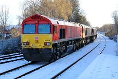 DB Cargo 66020 - Mansfield Woodhouse (the mother '66' 66001) Tags: ews dbschenker dbcargo class66 66081 66172 66197 66133 66020 mansfield mansfieldwoodhouse robinhoodline railways nottinghamshire doncaster toton snow