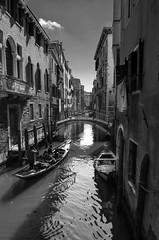 Canals (Salvo.do) Tags: blackandwhite black white venice canals travel discovery grey monocrome monocromatic italy boat gondola bridge street pentax k5 1855 wr