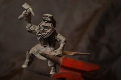 There forged was blade, and bound was hilt (Nikita Vasiliev) Tags: origami origamiart paper paperart dwarf tolkien anvil smith blade hammer lordoftherings lotr durin kawahatafumiaki