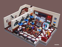 Kahuka Koffee (snaillad) Tags: moc lego town city corner avenue street classical baroque facade kahuka koffee coffee cafe 19th 20th century architecture