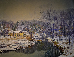 Edward Redfield - The Mill in Winter, 1921 at National Gallery of Art - Washington DC (mbell1975) Tags: washington districtofcolumbia unitedstates us edward redfield the mill winter 1921 national gallery art dc nga museum museo musée musee muzeum museu musum müze museet finearts fine arts gallerie beauxarts beaux galleria painting impression impressionist impressionism realism realist