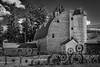 Dahmen Barn (D E Pabst Photography) Tags: palouse blackandwhite monochrome wooden farm southeastwashington barn whitmancounty steel wheel washington fence uniontown silo gothic arch