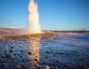 Geyser At Sunset (AlexanderFritz) Tags: geyser iceland sunset golden circle geothermal