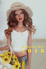 Happy New Year! (• S o r a i a ♥~) Tags: bjd balljointeddoll doll girl limited le msd raccoondoll raccoon monica dark mocha tan fmd for my ttya