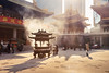 Jing'an temple (David S.M.) Tags: china shanghái jingan temple smoke ancient sacred travel city