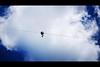 Summer Fun (Dan Haug) Tags: summer fun zipline wire person arbraska laflèche caves valdesmonts québec lookingup clouds fujifilm xt2 xf50140 xf50140mmf28rlmoiswr