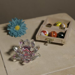 untitled (N.the.Kudzu) Tags: home tabletop stilllife flower crystal wooden box marbles canon70d