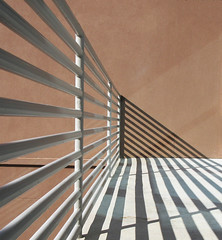 Sun-generated lines and angles (Monceau) Tags: sun shadows lines angles railing fence contrast 4365 geometric stripes 365the2018edition 3652018 day4365 04jan18 architecture