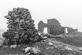 Foggin Tor Quarry Ruins in the Mist