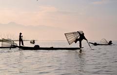 _DSC7470g (Tartarin2009) Tags: lac lake inle myanmar intha fisherman travel nikon d600 waterscape boat stealingshadows humain
