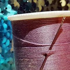 Needle stuck in thread (shercredeur) Tags: macro macromondays stick needle thread hmm
