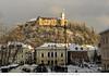 SLOVEVIA - IL CASTELLO DI LUBIANA (Andrea di Florio (10.000.000 views!!!)) Tags: slovenia lubiana castello medioevo tramonto paesaggio panorama nikon d600