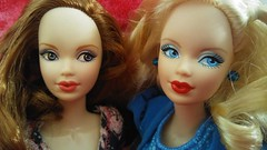 Sofiya and Gwen (surfacelight) Tags: birthstone beauties sapphire amethyst steffie barbie purple top made to move liv body