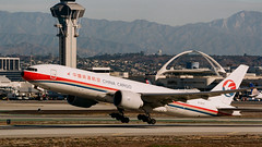 China Cargo Boeing 777 lifts off at LAX
