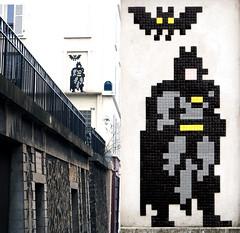 Space invader [Paris 12e] (biphop) Tags: europe france paris streetart space invader spaceinvader mur wall installation mosaic mosaique 75012 pa1261 batman