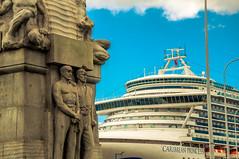 Caribbean Princess (Tony Shertila) Tags: 20170809150242 europebritainengland merseyside liverpool dock liner caribbeanprincess stoker monument ship england unitedkingdom gbr