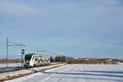 Un Minuetto nella neve (Paolo.Giordano) Tags: md minuetto aln 501 cuneo treni ferrovia neve prati