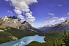 Peyto Lake_ Alberta Canada (Axel Heinbokel) Tags: snowcapped mountain range peak hill ridge rock valley rolling landscape valpine