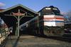 The Pennsylvanian At Latrobe (DJ Witty) Tags: amtrak emd f40 dieselelectriclocomotive photography pittsburghline passengertrain railroad rr train latrobe pennsylvania usa