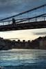 Passing (Quicksil7er) Tags: bridge bluehour lyon france architecture river city sunset silhouette clouds birds passing quicksil7er