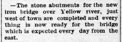 1890 - bridge west of town - Enquirer - 19 Sep 1890