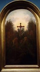 The crucifix in the mountains? (michael_s_pictures) Tags: friedrich romantiek schilderij painting cross crucifix kruis woud bos bergen mountain